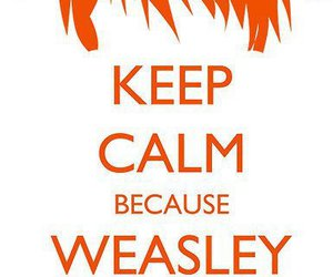 harry potter, keep calm, and weasley image