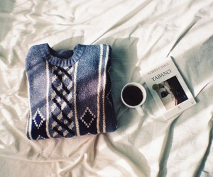 book, sweater, and vintage image