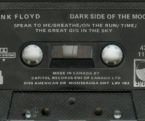 Pink Floyd, dark side of the moon, and tape image