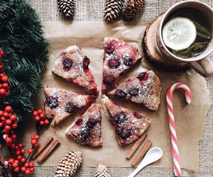 winter, christmas, and food image