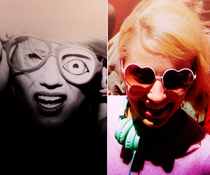 glee and dianna agron image