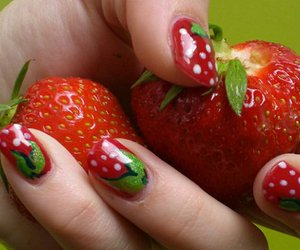 strawberry and nails image