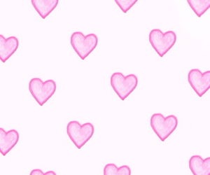background, girl, and heart image
