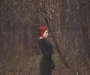 gothic, redhead, and dark photography image