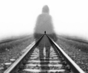 black and white, alone, and photography image