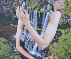 nature, art, and waterfall image