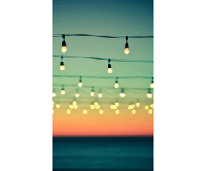 lights, sunset, and wallpaper image