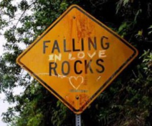 love, falling, and rocks image