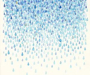 blue, illustration, and rain image