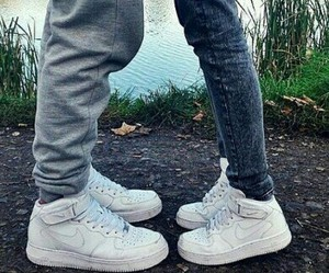 love, nike, and couple image