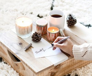 winter, candles, and christmas image