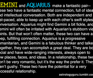 aquarius, gemini, and love image
