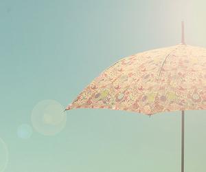 umbrella, pastel, and vintage image