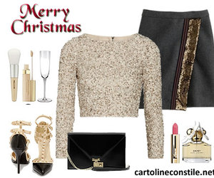 outfit, party, and cute christmas image