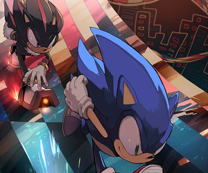 shadow, sonic, and Sonic the hedgehog image