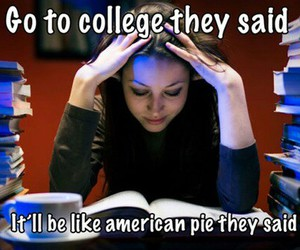 college, funny, and lol image
