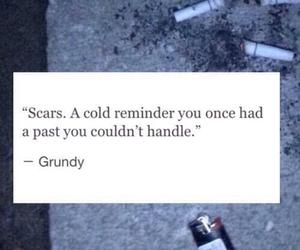 scars, sad, and past image