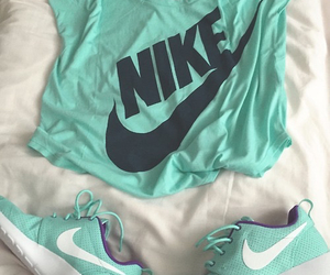 blue, nike, and sport image