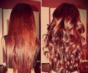 hair, curly, and red image