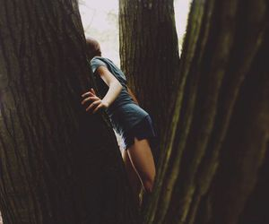 tree, girl, and nature image