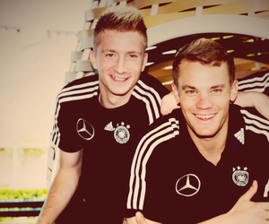 manuel neuer, germany, and marco reus image