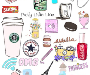 starbucks, nutella, and minions image