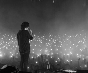 concert, music, and lighters image