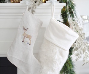 christmas, stockings, and white image