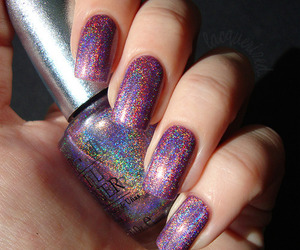 nails, nail polish, and glitter image