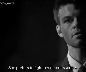 quote, alone, and demons image