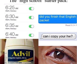 high school, funny, and true image