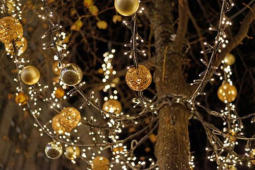 christmas, light, and ball image