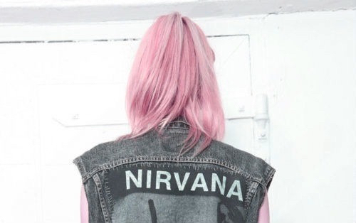 nirvana, grunge, and pink image