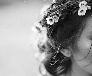 Black and white hairstyles with flowers