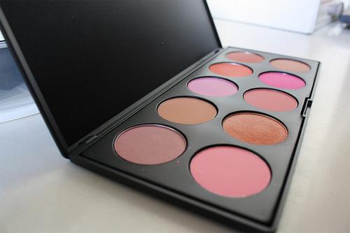 make up, makeup, and pink image