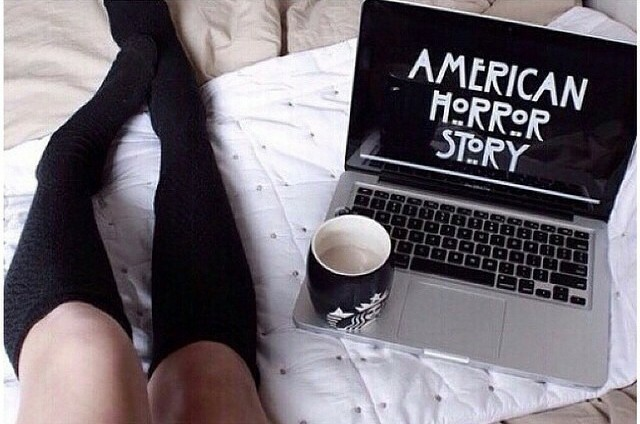 coffee, pale, and american horror story image