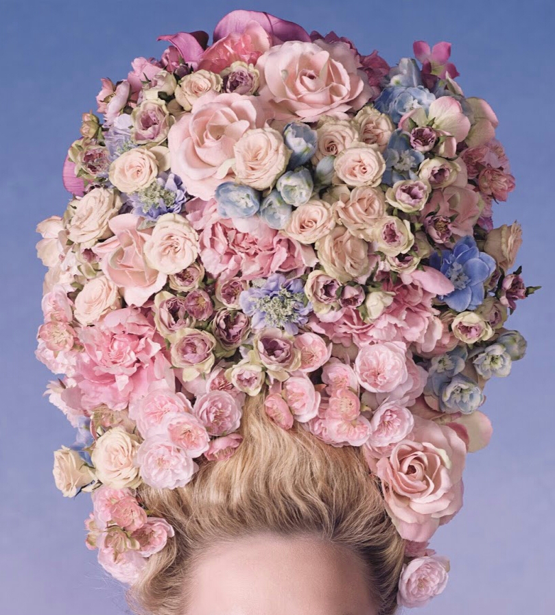 flowers, dior, and hair image