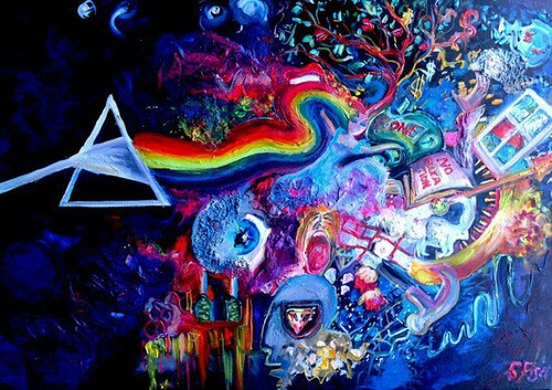 art, colors, and music image