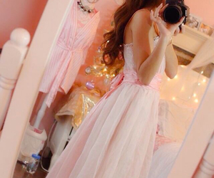 ball gown, girly, and pink image