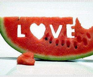 heart, melancia, and cute image
