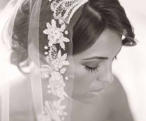 wedding, lace, and veil image
