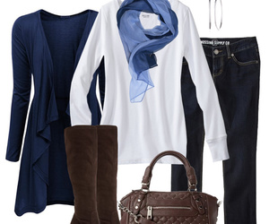 outfit, fashion, and scarf image