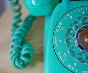 phone, telephone, and blue image