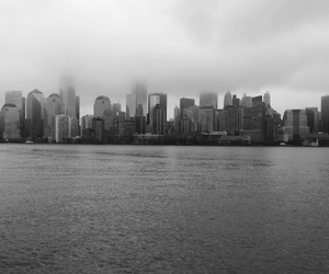 black and white, clouds, and new york image
