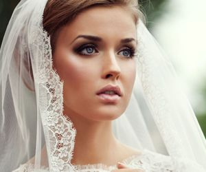 wedding, bride, and makeup image