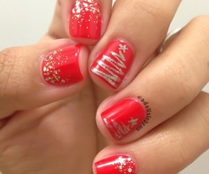 nails, christmas, and celebration image