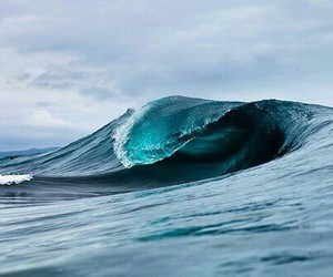 sea, ocean, and wave image