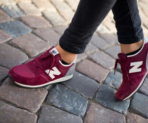 girl, sneakers, and love image