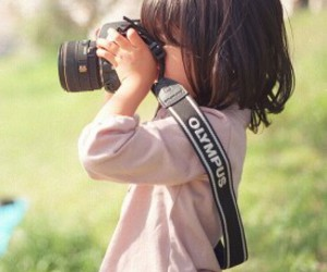 camera, child, and cute girl image