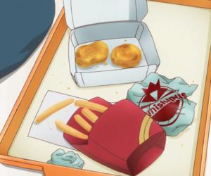 anime, fast food, and food image